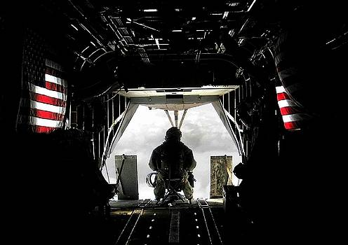 Flying with the stars and stripes in Afghanistan by Jetson Nguyen