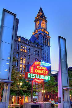 Joann Vitali - Flying Yankee Neon Sign - Rose Kennedy Greenway - Boston