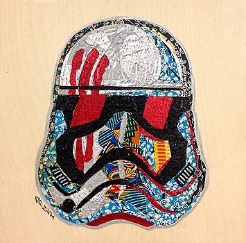Storm Trooper FN-2187 Helmet Star Wars Awakens Afrofuturist Collection by Apanaki Temitayo M