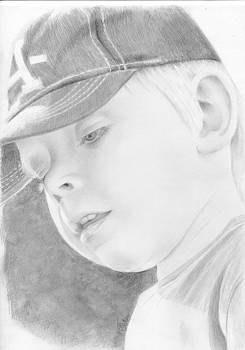 Potrait of a child by Bitten Kari