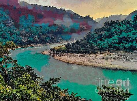 Fog and mist over a river by Ashish Agarwal