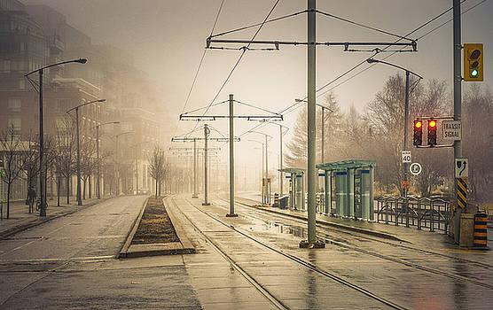Fog Deserted Street by Nicky Jameson