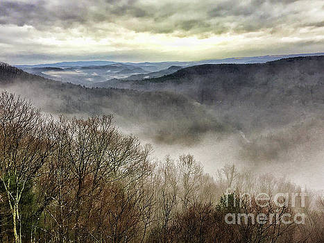 Fog in the Bluestone Gorge - Pipestem State Park by Kerri Farley