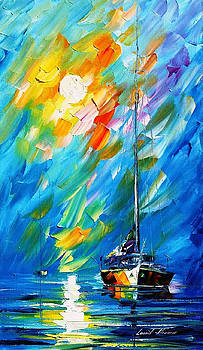 Fog Movement - PALETTE KNIFE Oil Painting On Canvas By Leonid Afremov by Leonid Afremov