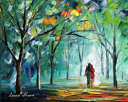 Fog Of Love - PALETTE KNIFE Oil Painting On Canvas By Leonid Afremov by Leonid Afremov