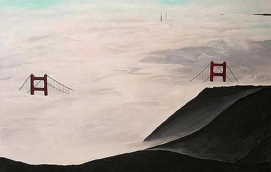 Fog on Golden Gate Bridge by RQ Fields