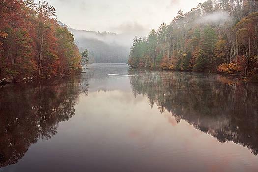 Fog on Mill Creek Lake #2 by D Scott Clark