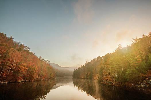 Fog on Mill Creek Lake #3 by D Scott Clark