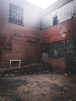 Fog Outside Abandoned Building by Dylan Murphy