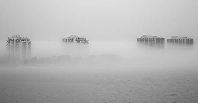 Fog over Lake Simcoe by James Canning