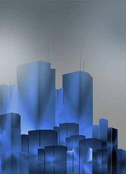 Fog Over The City by John Krakora