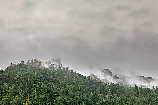 Fog Rolling over Columbia River Gorge by David Gn