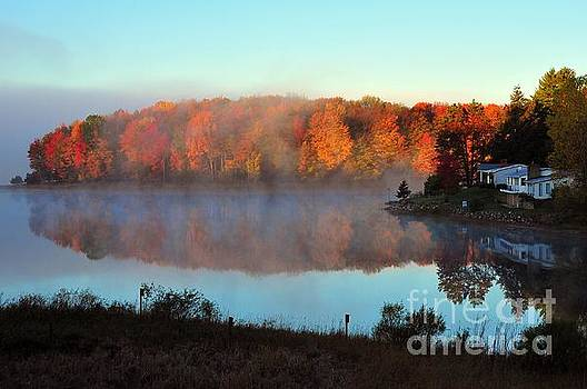 Terri Gostola - Foggy Autumn at Stoneledge Lake