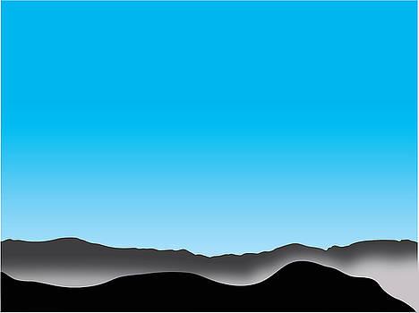 Foggy Blue Sky San Jacintos by Stan  Magnan
