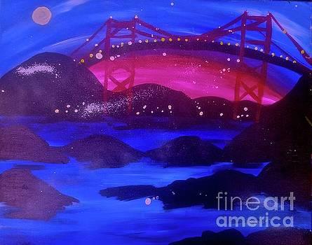 Foggy Bridge On The Rocks by Tony B Conscious