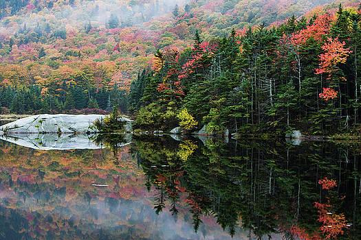 Foggy foliage morning Kinsman Notch by Jeff Folger