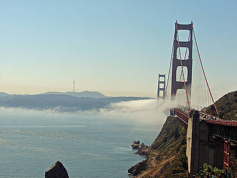 Foggy Golden Gate by Bobby Miranda