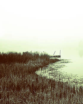 Foggy Lake Pier by Susan Schumann