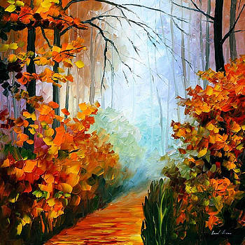 Foggy Morning 2 - PALETTE KNIFE Oil Painting On Canvas By Leonid Afremov by Leonid Afremov