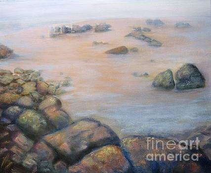 Foggy Morning at the Jetty by Vivian Haberfeld