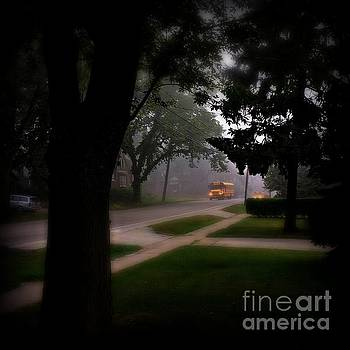 Foggy Morning Bus Ride by Frank J Casella