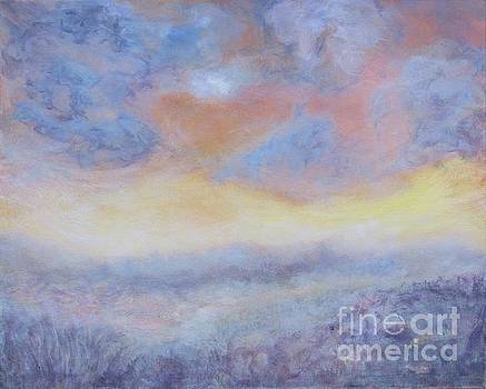 Foggy Morning on the Swamp 24x30 by Vivian Haberfeld