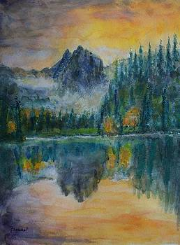 Foggy Mountain Lake by David Frankel