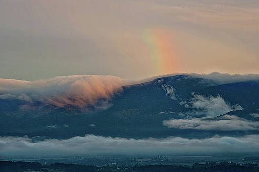 Foggy Mountain Rainbow by Lara Ellis