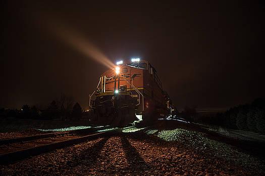 Foggy Night Train  by Aaron J Groen