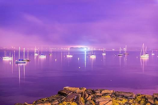 Foggy Portland Harbor Sunset by Tim Sullivan