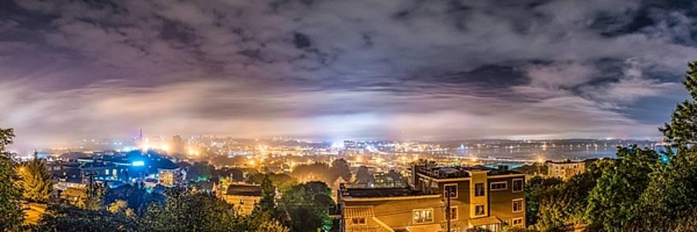 Foggy Portland Night by Tim Sullivan