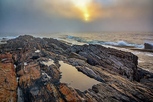 Foggy Sunrise at Giant's Stairs by Rick Berk