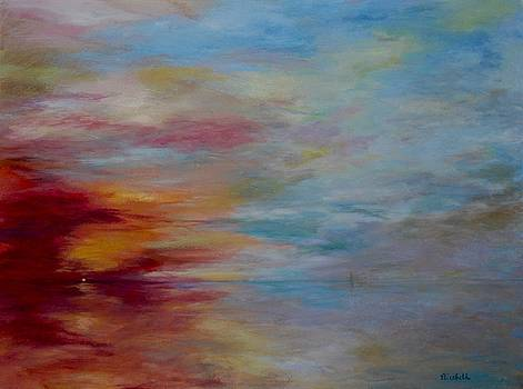 Foggy Sunset by Beth Maddox