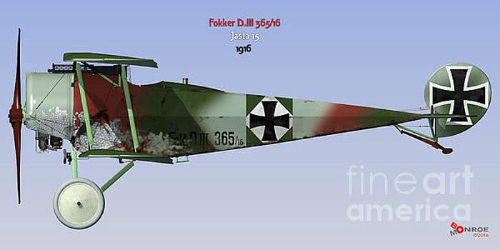 Fokker D.III Jasta 15 by Bo Monroe