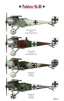 Fokker D.III Profile Poster by Bo Monroe