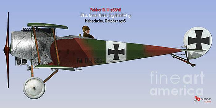Fokker D.III Udet by Bo Monroe