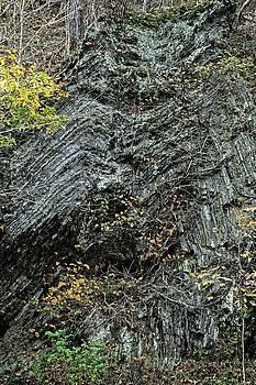 Folded rocks, West Virginia 2016 by Chris Honeyman