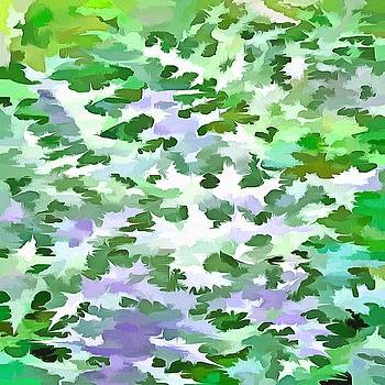 Foliage Abstract In Green and Mauve by Tracey Harrington-Simpson