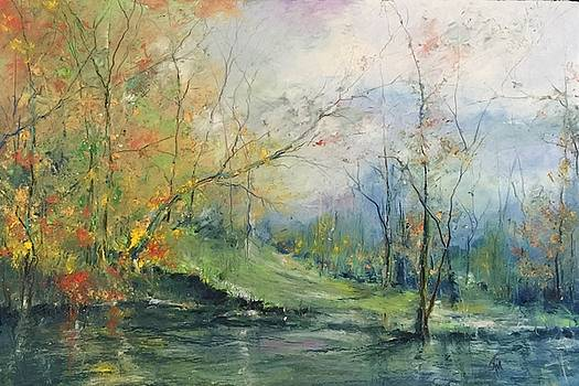 Foliage Flames on the River by Robin Miller-Bookhout