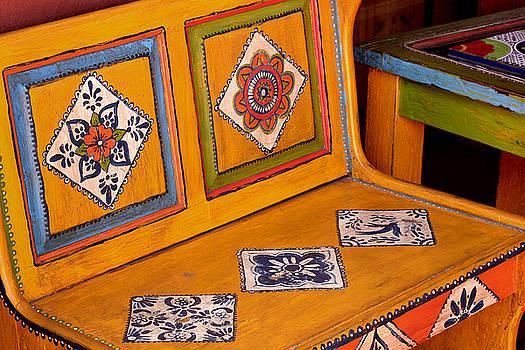 Art Block Collections - Folk-Art Bench