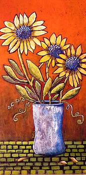 Folk Art Sunflowers by Suzanne Theis
