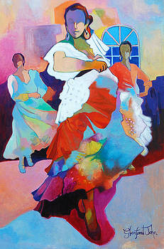 Folk Dancers by Glenford John