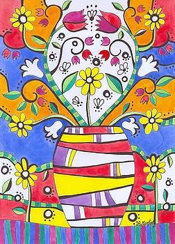 Folk Tulips by Agnieszka Korfanty