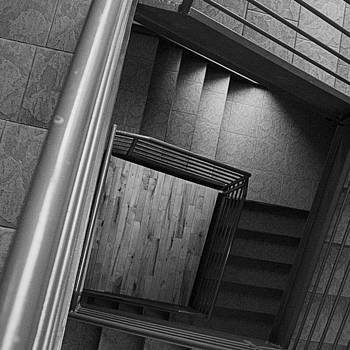 Follow Me Down! #stairs #blackandwhite by Shivendra Singh