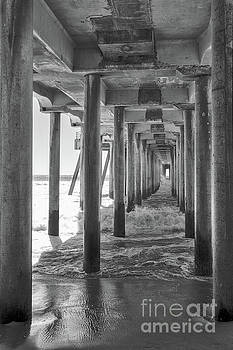 Follow The Lines Under Huntington Beach Pier by Ana V Ramirez