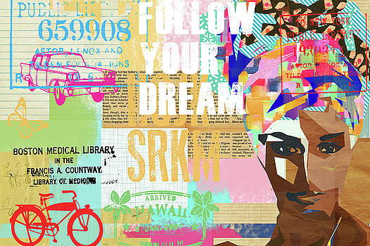 Follow your dream Collage by Claudia Schoen