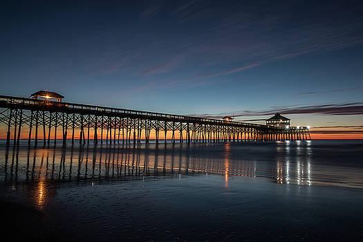 Folly Beach Pier Before Sunrise by Donnie Whitaker