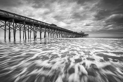 Folly Beach Pier SC Scenic Seascape Photography by Dave Allen