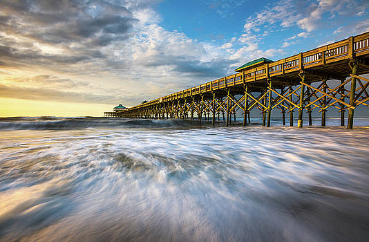 Folly Beach SC Pier Charleston South Carolina Seascape by Dave Allen