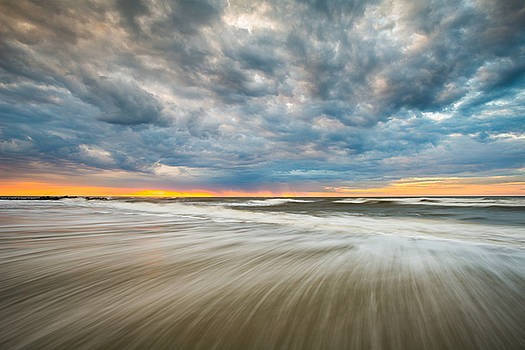 Folly Beach Sunrise Charleston SC Seascape by Dave Allen